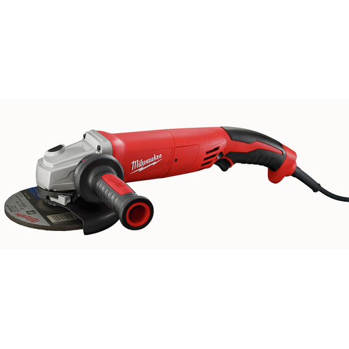 Milwaukee 6124-30 5 in. 13 Amp Trigger Switch Small Angle Grinder with Lock-On Button
