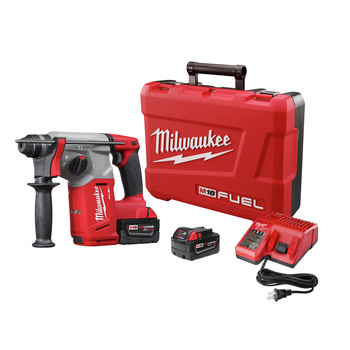 Milwaukee 2712-22 M18 FUEL Lithium-Ion 1 in. SDS Plus Rotary Hammer Kit image number 0