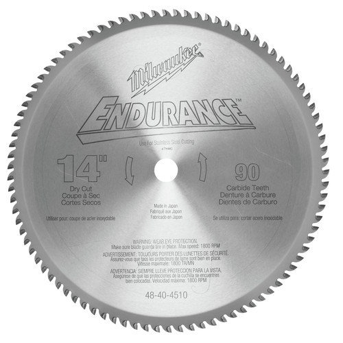 Milwaukee 48-40-4510 14 in. Circular Saw Blade (90 Tooth)