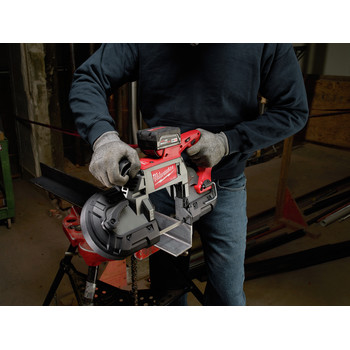 Milwaukee 2729-22 M18 FUEL Cordless Lithium-Ion Deep Cut Band Saw with 2 XC 5.0 Ah Batteries image number 7