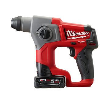 Milwaukee 2416-22XC M12 FUEL Lithium-Ion 5/8 in. SDS-Plus Rotary Hammer Kit with 2 XC Batteries image number 2