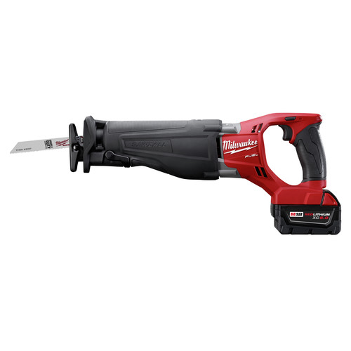 Milwaukee 2720-22 M18 FUEL Cordless Sawzall Reciprocating Saw with 2 REDLITHIUM Batteries image number 3