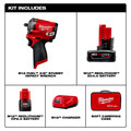 Milwaukee 2554-22 M12 FUEL Stubby 3/8 in. Impact Wrench Kit (2 Ah/4 Ah) image number 1