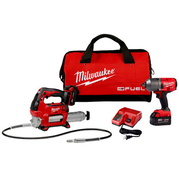 Milwaukee 2767-22GG M18 FUEL 1/2 in. High Torque Impact Wrench Kit with Friction Ring and Free Grease Gun