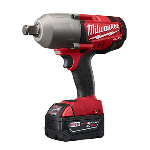 Factory Reconditioned Milwaukee 2764-82 M18 FUEL 18V Cordless 3/4 in. High Torque Impact Wrench with Friction Ring with 2 REDLITHIUM Batteries