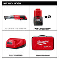Milwaukee 2558-22 M12 FUEL 1/2 in. Ratchet 2 Battery Kit image number 1