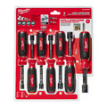 Milwaukee 48-22-2507 7-Piece Magnetic HollowCore SAE Nut Driver Set image number 4
