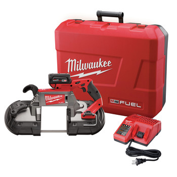 Milwaukee 2729-21 M18 FUEL Cordless Lithium-Ion Deep Cut Band Saw with XC 5.0 Ah Battery
