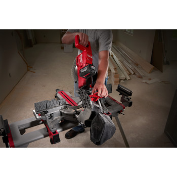 Factory Reconditioned Milwaukee 2734-81HD M18 FUEL 9.0 Ah Cordless Lithium-Ion 10 in. Dual Bevel Sliding Compound Miter Saw image number 5