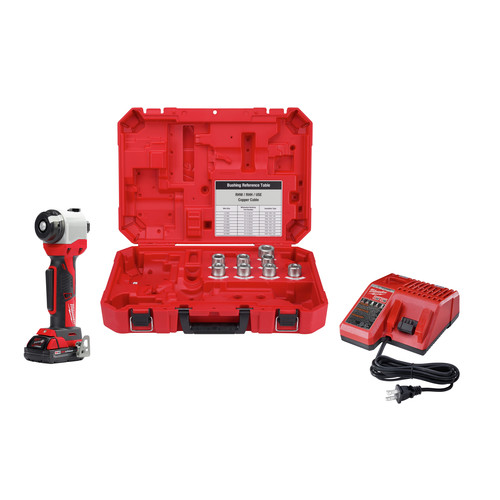 Milwaukee 2935X-21 M18 Cordless Lithium-Ion Cable Stripper Kit for Copper RHW / RHH / USE (1.5 Ah) image number 0