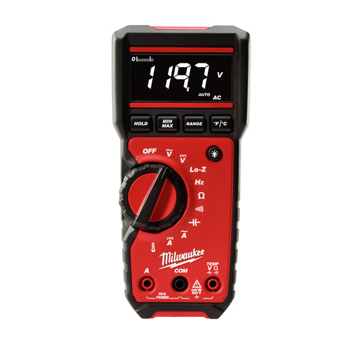 Milwaukee 2217-20 Digital Multimeter High Contrast White on Black Display image number 0
