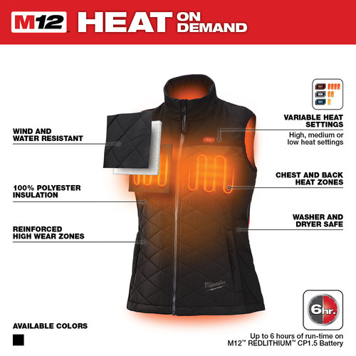 Milwaukee 333B-20XL M12 12V Li-Ion Heated Women's AXIS Vest (Vest Only) image number 3