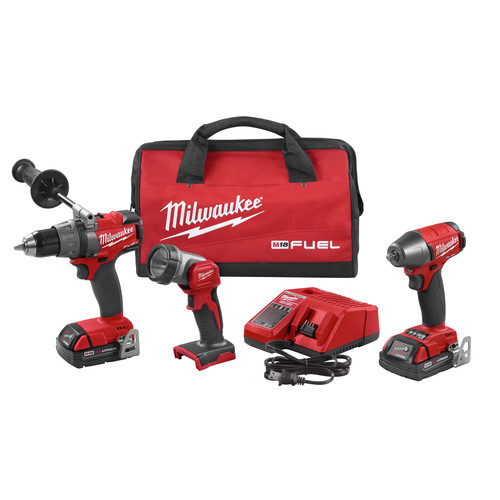 Milwaukee 2891-23 M18 FUEL PowerState Brushless 3-Piece Combo Kit