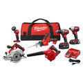 Milwaukee 2695-26CX M18 Cordless 6-Tool Combo Kit
