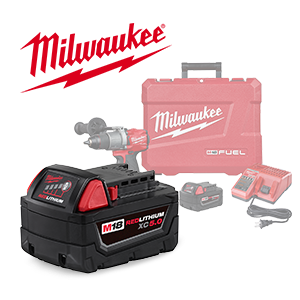 FREE Milwaukee M18 5.0 Ah Battery