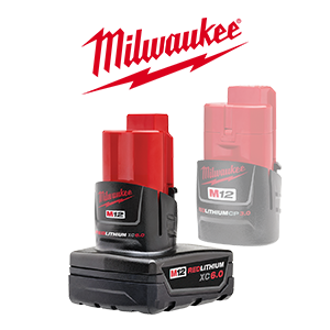 FREE Milwaukee M12 3.0 Ah Battery