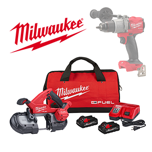FREE Milwaukee M18 Bare Tool or Battery