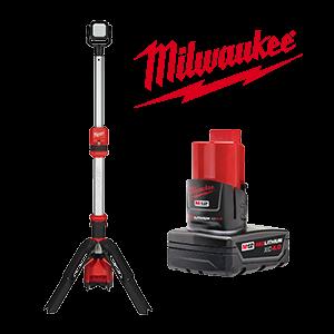 FREE Milwaukee M12 4.0 Ah Battery