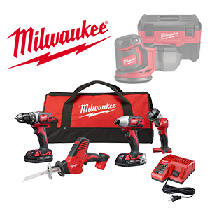 Get 2 FREE Milwaukee Bare Tools or Battery