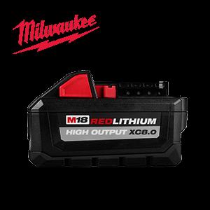 FREE Milwaukee M18 HIGH OUTPUT XC 8 Ah Battery