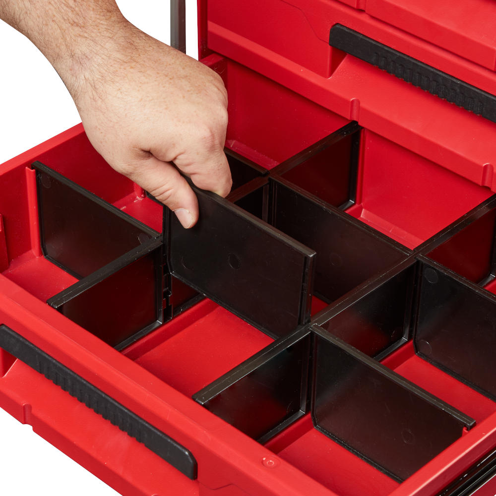 Internal Organization Dividers allow users to customize their drawer layout for tools and accessories. Dividers for one drawer are provided -- additional divider sets can be purchased
