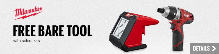 Free M12 Bare Tool with select Milwaukee Kits