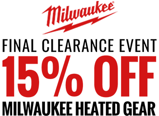 15% off Milwaukee Heated Gear